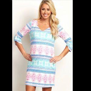 Pinkblush Maternity 3/4 Sleeve Dress
